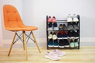 Ebee Foldable Shoe Rack with 4 Shelves (Plastic Pipe)
