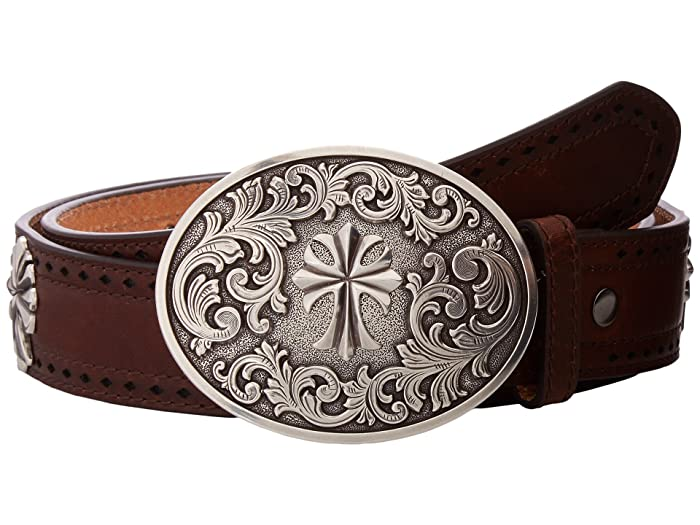 Ariat Perforated Edge Cross Belt (Tan) Women