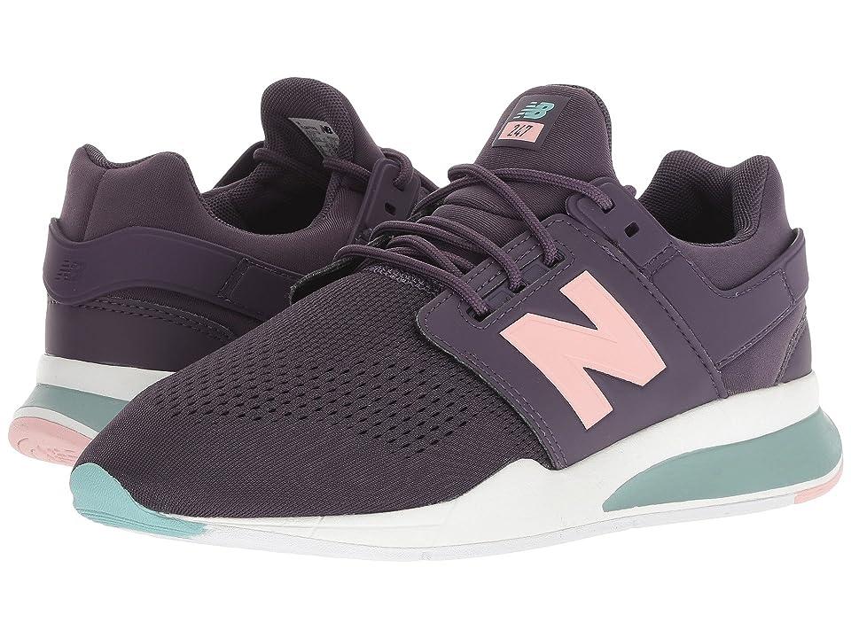 New Balance Kids KA247v2G (Big Kid) (Black/Purple) Girls Shoes