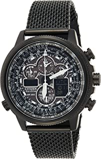 CITIZEN Mens Solar Powered Watch, Analog Display and Stainless Steel Strap JY8033-51E