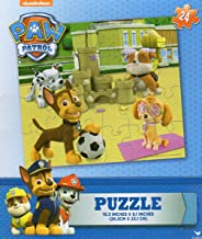 Nickelodeon Paw Patrol 24 Piece Jigsaw Puzzle Featuring Chase, Rubble, Skye, Marshall on the Beach with Sand Castle and Soccer Ball (Cardinal) Ages 5 and Up