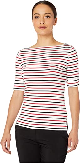 Petite Cotton Boat Neck Top