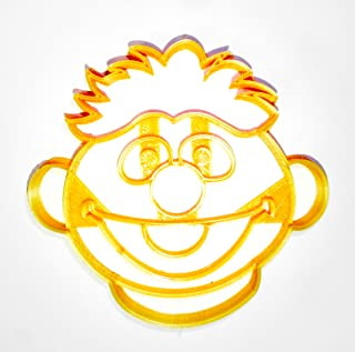 ERNIE FACE SESAME STREET MUPPET CHARACTER LOVES RUBBER DUCKIE KIDS TV SHOW SPECIAL OCCASION COOKIE CUTTER BAKING TOOL 3D PRINTED MADE IN USA PR2251