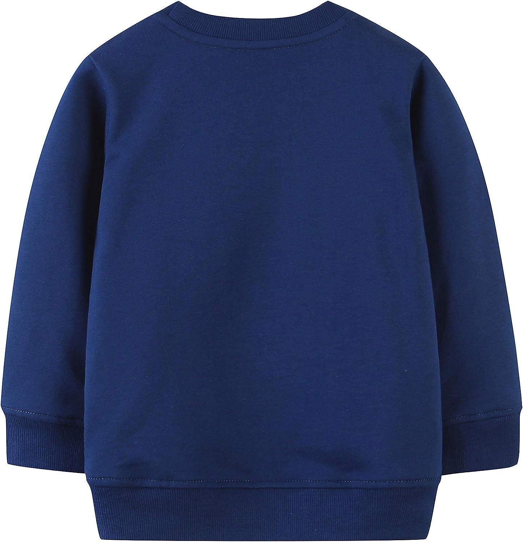 AOVCLKID Boys Pullover Sweatshirts Toddler Long Sleeve Cartoon Print Tops T-Shirt