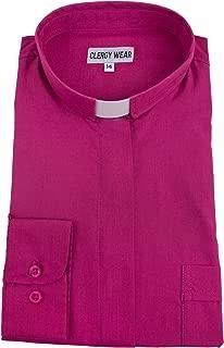 Women's Long Sleeve Standard Cuff Tab Collar Clergy Shirt