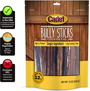 Cadet Real Beef Bully Sticks for Dogs - 12 oz