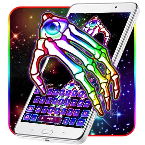 Skeleton Eye Hand Keyboard Theme