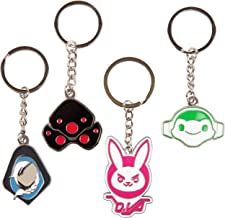 Overwatch Keychain Accessory 4 Pack - D.Va, Widowmaker, Ana and Lucio - Gamer Character Icon Symbol