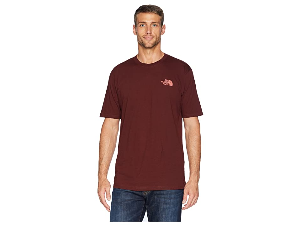 The North Face Short Sleeve Red Box Tee (Sequoia Red/Faded Rose) Men