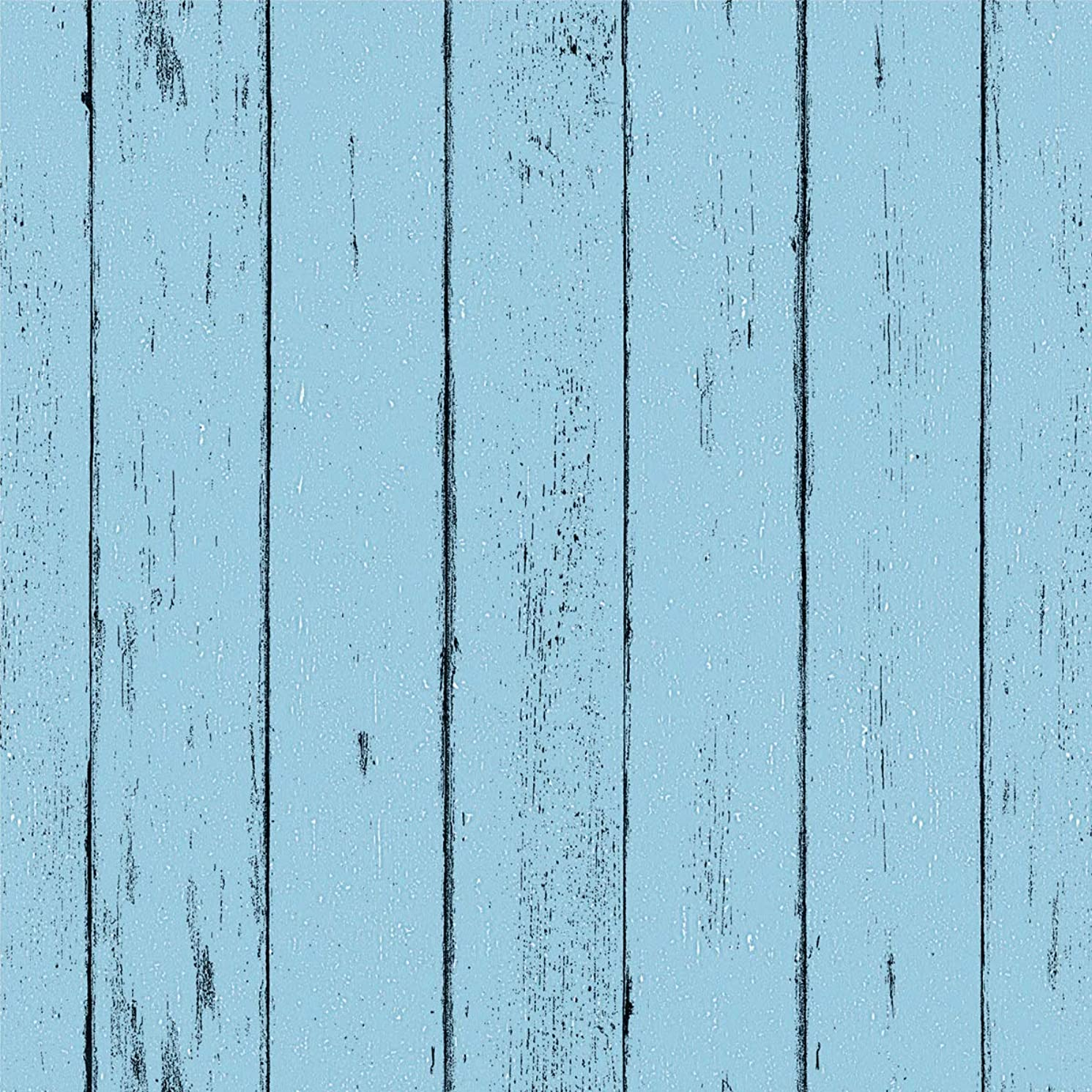"""Blue Wood Wallpaper - Wood Peel and Stick Wallpaper - Contact Paper or Wall Paper - Removable Wallpaper - Prepasted Wallpaper - 1.48 ft. x 9.83 ft. - 14.55 sq. ft. (17.71"""" Wide x 118"""" Long)"""
