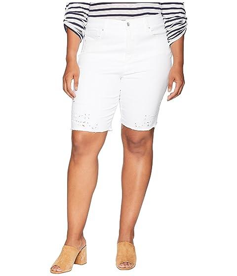 Nydj Plus Size Plus Size Briella Shorts W Eyelet Embroidery In
