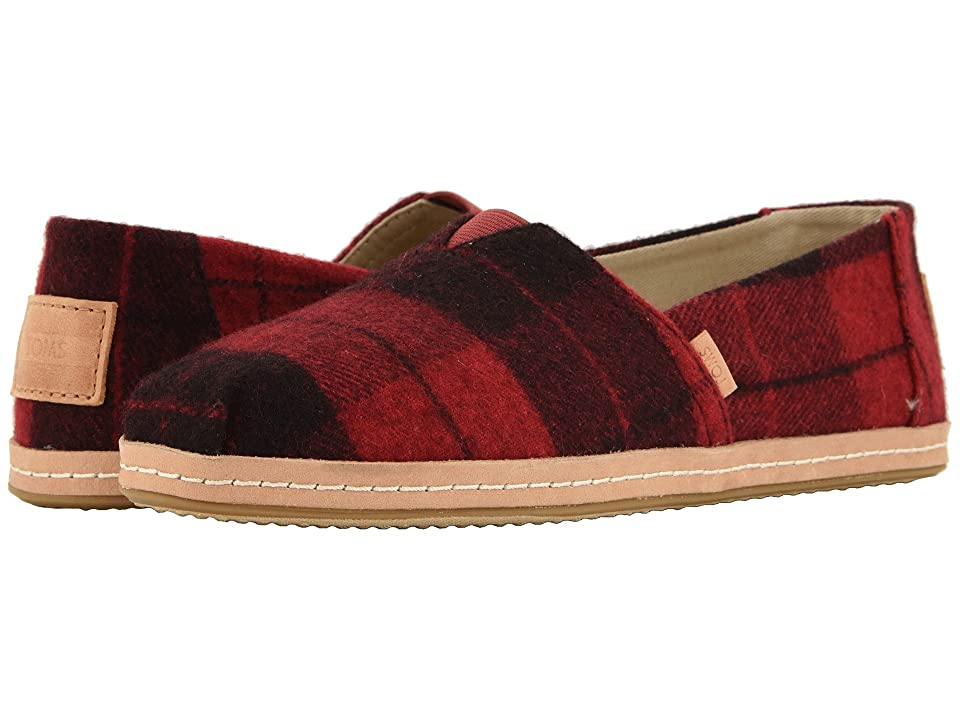 TOMS Alpargata (Red Felt Plaid) Women