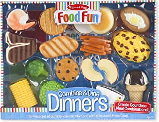Melissa & Doug Food Fun Combine & Dine Dinners (Play Food Set, Great Gift for..