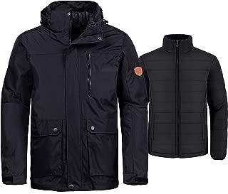 Men's 3-in-1 Ski Jacket Interchange Snow Coat Waterproof Removable Liner