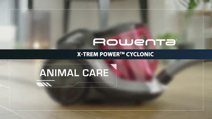 Rowenta RO6963EA X-Trem Power - Aspirador 4A, ciclónico sin bolsa, depósito 2.5 L, boquilla ranuras XXL, cepillo tapicería, mini turbo brush, tubo telescópico, nivel de ruido 75 dB: Amazon.es: Hogar