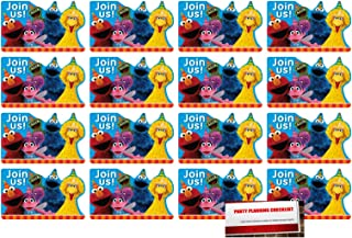 Sesame Street 16 Postcard Invitations Birthday Party Supplies Value Pack Plus Party Planning Checklist