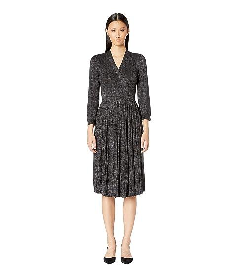 Kate Spade New York Dashing Beauty Metallic Wrap Sweater Dress