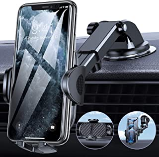 TORRAS Cell Phone Holder for Car [Thick Case & Big Phone Friendly] 3 in 1 Car Phone Holder Mount Dashboard Air Vent Windsh...