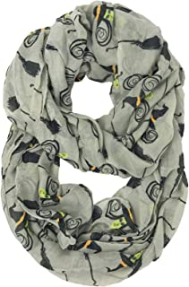 Halloween Holiday Harvest Trick or Treat Soft Light Loop Infinity Scarf