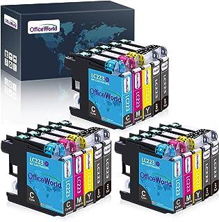 OfficeWorld Reemplazo para Brother LC223 Cartuchos de tinta Compatible para Brother DCP-J4120DW J562DW,MFC-J480DW J880DW J...