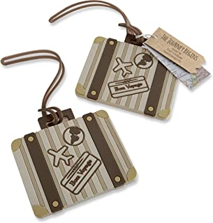Kate Aspen Let The Journey Begin Vintage Suitcase Luggage Tag, Party Favor, Gift