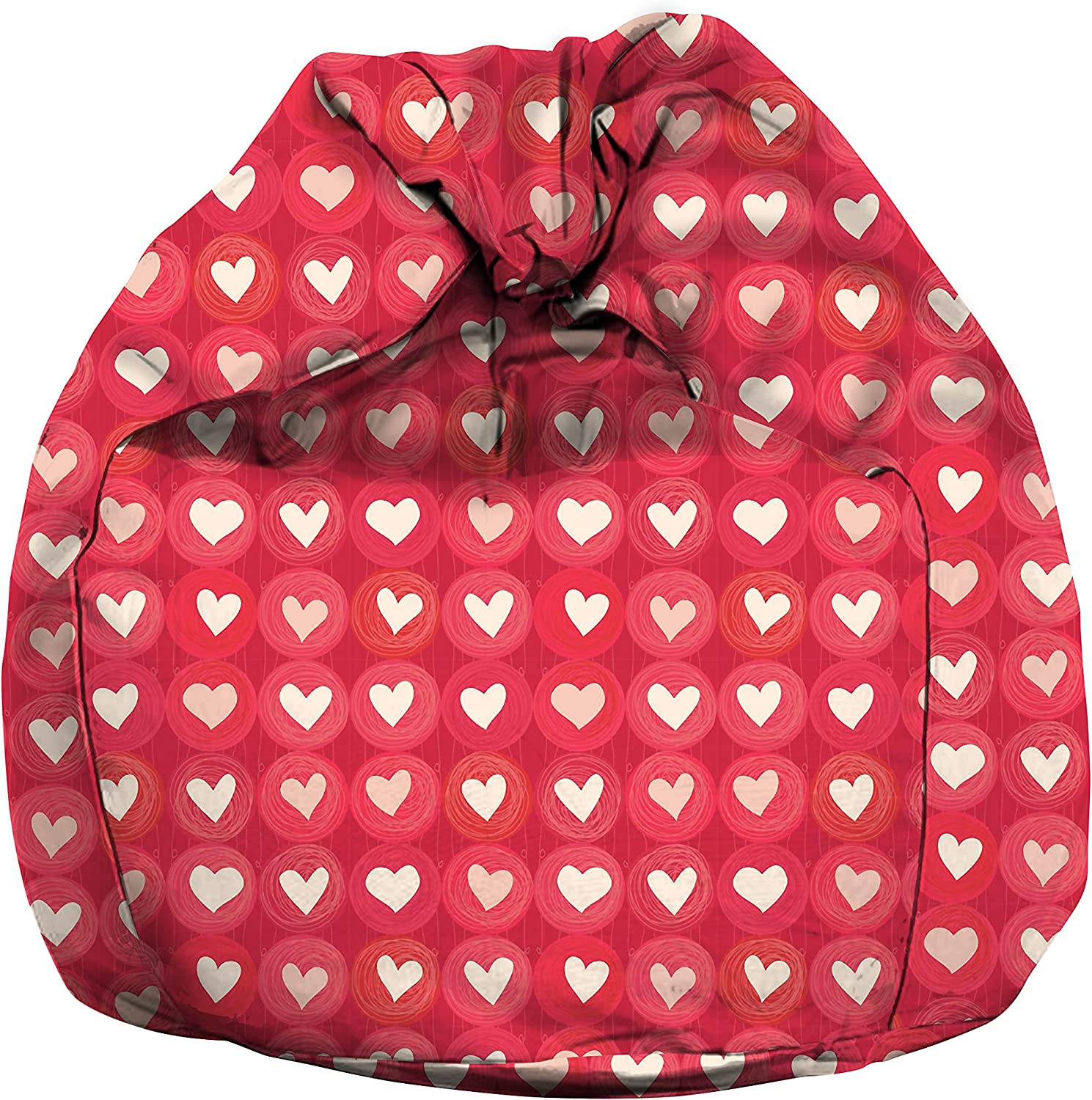 eloria Excellent Bean El Paso Mall Bag Cover Chair Be Hearts Printed Canvas