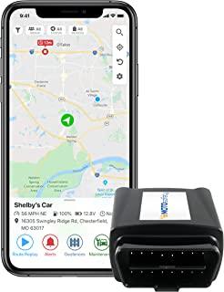 MOTOsafety OBD GPS Car Tracker, Hidden Vehicle Tracker and Monitoring System with Real Time...