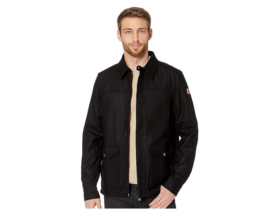 Fjallraven Greenland Re-wool Shirt Jacket (Black) Men