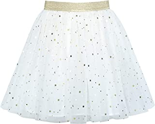 Girls Skirt Navy Blue Pearl Stars Sparkling Tutu Dancing Size 4-12