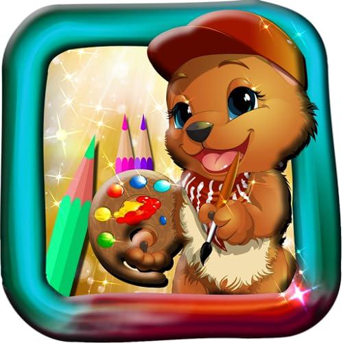 Livro de colorir dos ursos de peluches