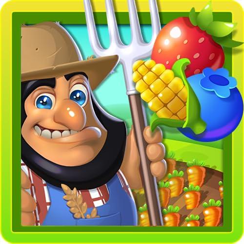 Bauernhof und Garten: Harvest Mania Fruit Match 3 Spiel