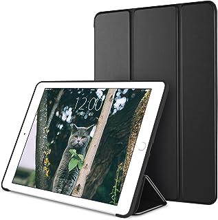DTTO 新しい iPad 9.7 2018/2017 兼用ケース TPU ソフト 工場直売「オートスリープ/スリープ解除」超薄型 超軽量 スマートカバー 三つ折り スタンド 2018年と2017年発売の 新しい9.7インチ iPad対応 ブラック