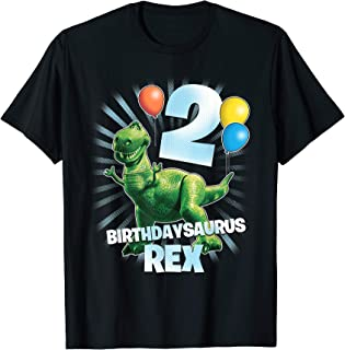 Pixar Toy Story Birthdaysaurus Rex 2nd Birthday T-Shirt