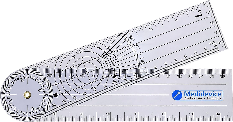 Goniómetro premium 22cm, 1mm grosor
