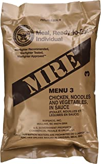 Chicken w/Noodles MRE Meal - Genuine US Military Surplus Inspection Date 2020 and Up