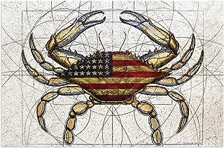 Colorful Abstract Big Crab Door Mat PVC Outdoor Indoor Welcome Doormat Dirt Catching Non-Slip Washable Floor Rug for Front...