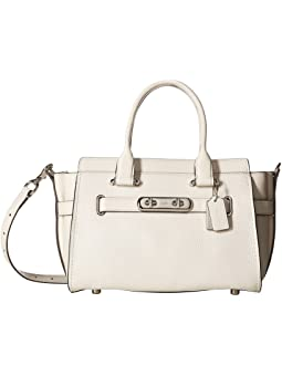 코치 스웨거 캐리올 COACH Swagger Carryall 27 In Pebble Leather,SV/Chalk