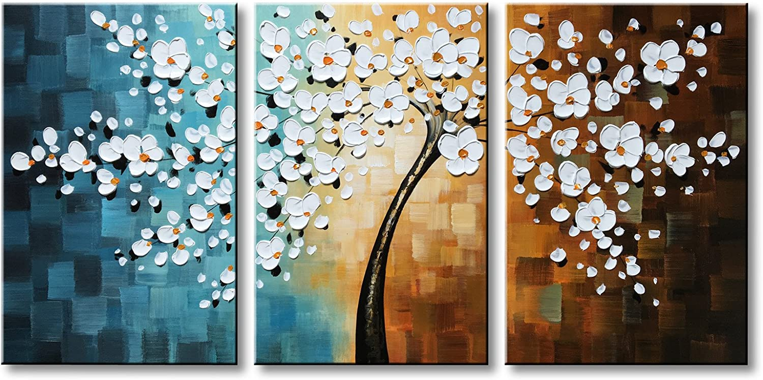 Winpeak Import Hand-painted White Flower Oil Painting Can Floral Ranking TOP9 Modern