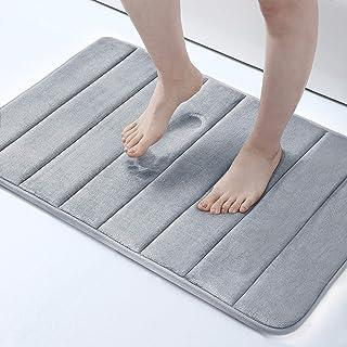 "Memory Foam Soft Bath Mats - Non Slip Absorbent Bathroom Rugs Rubber Back Runner Mat for Kitchen Bathroom Floors 16""x24"", ..."