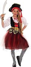 Magicoo - Disfraz de pirata para niña, talla 110, 116, 122
