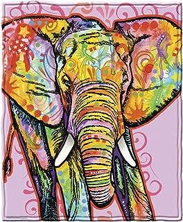 Dawhud Direct Dean Russo Elephant Fleece Throw Blanket