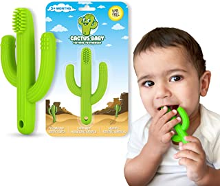 Cactus Baby Teething Toys Toothbrush | Self-Soothing Pain Relief Soft Silicone Teether..
