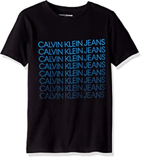 Calvin Klein Boys' Big Crew Neck Tee Shirt