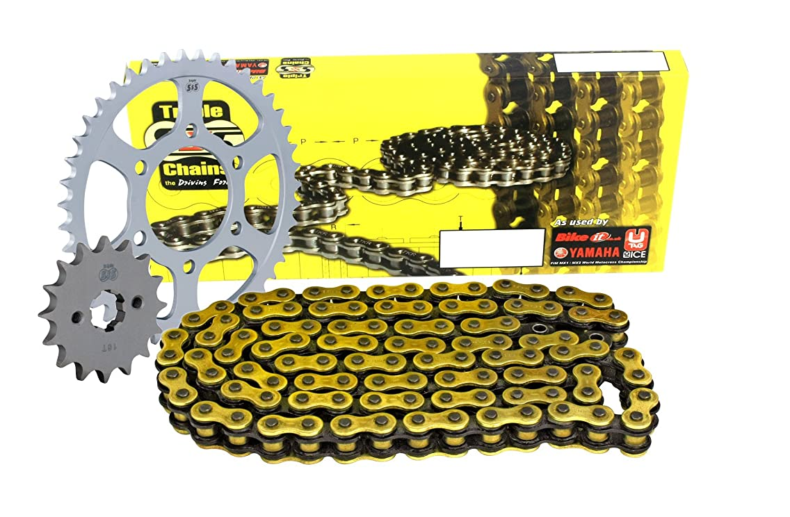 Triple SSS Chain & JT sprockets NBI_JTKHCBR6K Triple-S CHO530-108 Gold O-Ring Chain and JT Sprocket Kit (15/43)