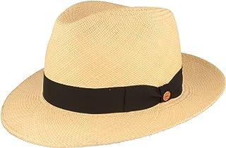 Stroh-Hut Traditionell Handgeflochten mit ventilierter Krone Sommer-Hut aus Ecuador Breiter Orginal Panama-Hut