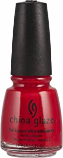 China Glaze Nail Polish Bright Red Crème, 14 ml, Pack of 1