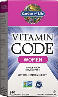Garden of Life Multivitamin for Women - Vitamin Code Women's Raw Whole Food Vitamin Supplement with Probiotics, Vegetarian...