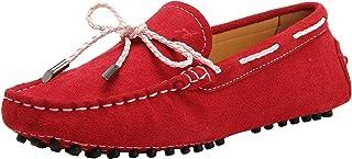 Zapatos Casuales - Mocasines de Cuero Suave cómodos Antideslizantes para Mujer D9123
