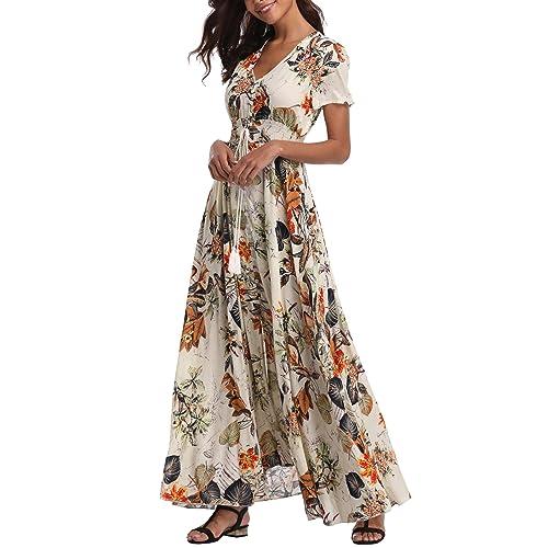 Plus Size Summer Floral Maxi Dress: Amazon.com