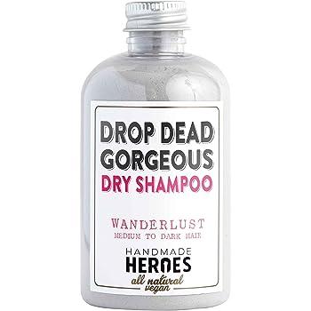 All Natural, Vegan Dry Shampoo Powder – For Brunettes and Blondes, Light, Medium to Dark Color & Brunette Hair – Volume Hair Powder Travel size 2 oz (Brunette - For Medium to Dark Hair)